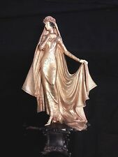 "13"" Vintage Art Deco Woman Sculpture Statue Acrylic"
