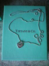 Tiffany & Co. Kugelkette mit mini Herz NEU, 1 cm x 1,3 cm, Kette 45 cm, Original