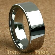 Tungsten Carbide Ring Mens Wedding Band Size 8.5