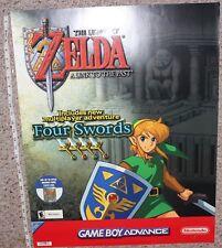 Legend of Zelda Link to the Past Four Swords GBA Poster Nintendo Vintage Promo