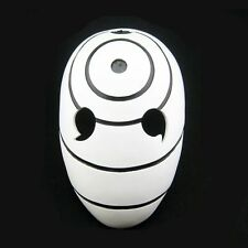 White Tobi Madara Naruto Halloween Resin Mask Adult size Cosplay Fancy Dress NEW