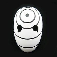 White Tobi Madara Naruto Halloween Resin Mask Adult size Cosplay Fancy Dress NEW