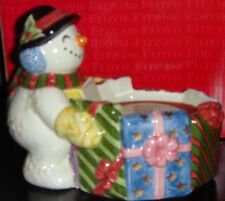 Fitz & Floyd Retired Frosty Folks Handcrafted Candle Cup 19/445 Nib New in Box