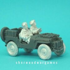 1/48th British Para Artillery Jeep 2 Crew BNIB, WWII 28mm Bolt Action,