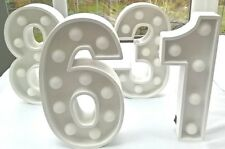 SPECIAL OFFER - No. 6 Party Light Numbers - £7.50 each