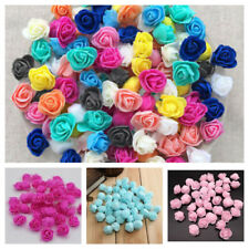 Small 3Cm Foam Roses - Single 15 Colourfast Artificial Wedding Flowers Bouquet
