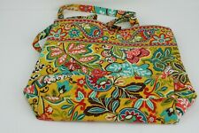 Vera Bradley Tote Handbag Bag Mustard Yellow Floral Teal Coral -Non Zippered