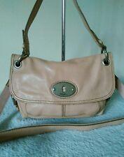 Fossil Ladies Leather Light/Dust Pink Grab Shoulder Messenger Cross Body Bag #30