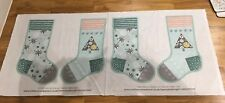 Merry And Bright Christmas Stocking Crafters Companion Sewing Panel New