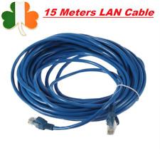 15m Ethernet Cable LAN 15M RJ45 CAT5 CAT5E Network Lan Router Patch Cord Blue