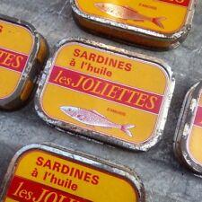 Boite Sardine Les Joliettes 1950 Poisson Boite Ancienne 1960 Tôle Lithographiée