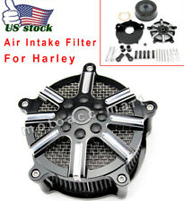Fit For 1997-2007 Harley Street Glide Road King Air Cleaner Intake Filter CNC US
