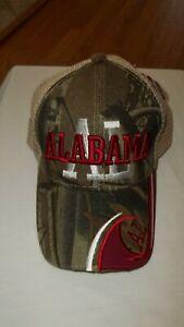 Alabama Crimson Tide Camouflage Mesh Trucker Snapback Hat NWT!