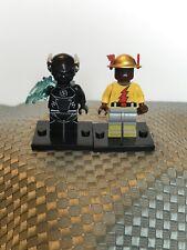 Custom DC Lego Minifigures Zoom Black Flash And Original Reverse Flash, New