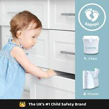 Child Safety Lock Magnetic Made For Cupboards Cabinets & Drawers. BABYGO
