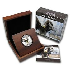"2013 1 oz Silver ""Birds of Prey"" AMERICAN BALD EAGLE Niue $2"