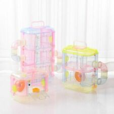Transparent  Hamster Multi Layer Small Pet Cages  Supplies Toy Hamster DIY House