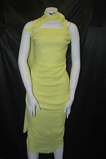 Bamboo Cotton Spandex  Thermal Knit Fabric Eco-Friendly 10.5 oz Lemon