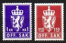 Norway - 1980 Official coat of arms Mi. 107-08 MNH