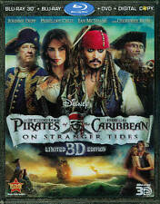 NEW Pirates of the Caribbean Stranger Tides 3D Blu-Ray 5-Disc w Dig & Lenticular