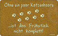 tableros de corte de pan Tablero de corte -SIN katzenhaare- Tabla regalo gato