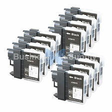 12 BLACK LC65 NEW HI-YIELD Compatible Ink LC65BK LC65 LC-65 for Brother Printer
