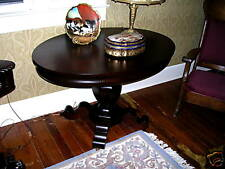 antique empire oval mahogany library table great grain