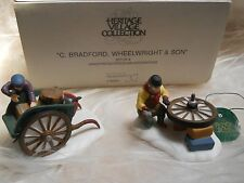 "Dept. 56 Heritage Village 2pc ""C. Bradford, WheelWright & Son"" Ret.w/Box Vgc"