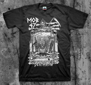 MOB 47 'Death Row' T shirt (Anti Cimex Disclose Totalitar Discharge Crucifix)
