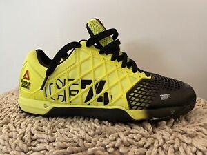 Reebok Crossfit Nano 4.0, M49985, Yellow/Black, Womens Cross Fit Shoes, Size 8.5