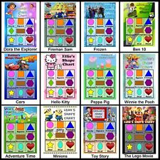 Children's Personalised Shape Chart. Learning Fun for Kids, Education - 9 Shapes