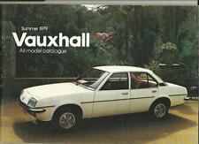 VAUHXHALL CHEVETTE,VIVA,CAVALIER,CARLTON,ROYALE CAR BROCHURE JULY 1979 + PRICES