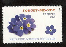 4987 Missing Children Forget Me Not US Single Mint/nh (Free shipping offer)