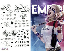 Halloween Suicide Squad Harley Quinn Temporary Tattoo Stickers Cosplay