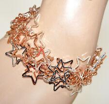 BRACELET femme étoiles pendentifs élégant bracelet or rose argent platine GP30