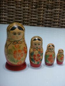 Babushka Nesting Dolls x 4