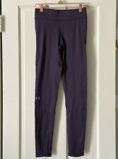 Under Armour UA Cozy Graphic Leggings Size S Small Purple Base Layer Cold Gear
