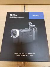Zoom Q4n HD cámara de vídeo Grabadora Audio estéreo con micrófono integrado-Negro