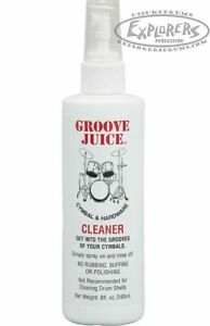 Groove Juice Cymbal Cleaner GJCC Easy Spray On Spray Off Natural Formula
