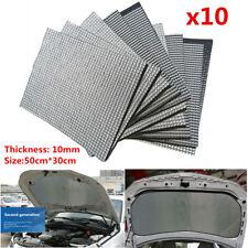 10x Car Firewall Heat Shield Sound Deadener Mat 10mm Foam Rubber Aluminum Sheet