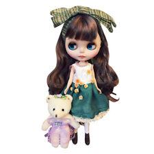 "New 12"" Blythe/Takara Doll 19 Joints Scrub muscle Long Hair Brown Matte"