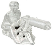 Rare New-Era Vintage Machine Gunner Soldier WW2 Metal Steel Toy Sculpture 1920's