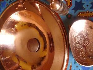 COPPER Moroccan hand hammered round sink wash basin 38cm