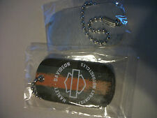 Harley Davidson key chain metal DOG TAG new  legendary motorcycles