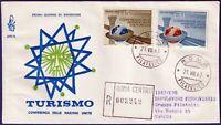 1963 - FDC Venetia - Turismo - Viaggiata per raccomandata  - n.203It