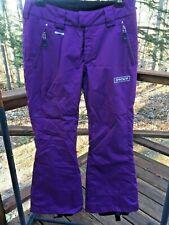 Spyder Xt Women's Ladies 8 Plum Purple Insulated Snowboarding Skiing Snow Pants