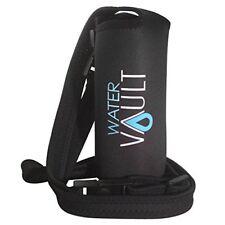 Bottle Buddy Deluxe Neoprene Water Holder Detachable Strap Sling H Black