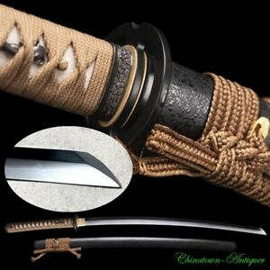 Japanese Samurai Katana Rurouni Kenshin Sword Steel w Clay Tempered Sharp #3427
