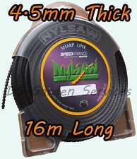 NYLSAW 4.5mm x 16m Length SPIKY Line SERRATED SHARP STRIMMER TRIMMER WIRE CORD