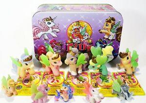 Simba / Dracco Filly Fairy Bechdose Tinbox With 10 Filly Fairys